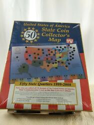 United States Of America State Coin Collectorandrsquos Map 2007 Through 2008
