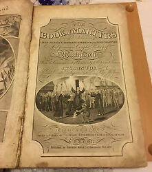 The Book Of Martyrs John Fox 1823 With Copperplate Etchings, Antique Historic