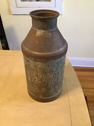 Vintage Metal Milk Container Dairy Farming Decor Staging Collectible Advertising