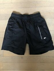 Nike Sportswear NSW Mens Woven Cargo Shorts Size Small Black AR2373 010 Black