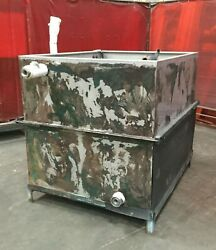 800 Gallon Stainless Steel Industrial Tank / 52l X 64w X 55h / 1 1/2 Inlet