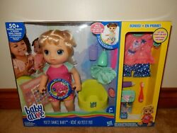 Baby Alive Potty Dance Baby Doll With Bonus Accessories Brand New Free Usps Ship