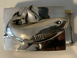 Largest Unisex Kieselstein Silver Shark Buckle Only One On Ebay In This Size
