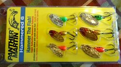 New Panther Martin Spinners Bait Hammered 6 Pack kit