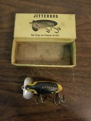 Vintage Wwii Jitterbug Fred Arbogast Fishing Lure Box With A Free Lure