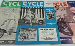 3 Vintage Cycle Motorcycle Magazines British Scooters Women Indian Hare Hounds