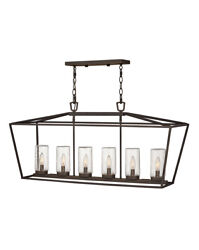 Hinkley 2569ozll Six Light Outdoor Lantern Alford Place Oil Rubbed Bronze