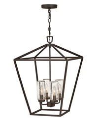 Hinkley 2567oz Four Light Outdoor Lantern Alford Place Oil Rubbed Bronze