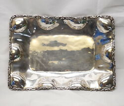 Antique Vintage Avm Mexico D.f. 925 Sterling Silver 14x10 Platter Plate Tray