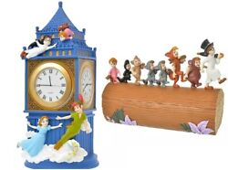 Disney Store Japan Peter Pan Clock Accessory Case 2 Item Special Christmas Gift