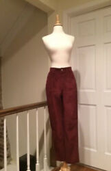 Vintage Moschino Cheap And Chic Rust Red Suede Pants Size 4/6/8