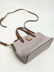 Dooney And Bourke Gray Leather Crossbody Side Bag $54.99