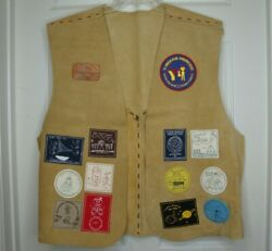 Vtg Ymca Father Daughter Camp Xl Leather Vest Patches 1999-2002 Indian Princess
