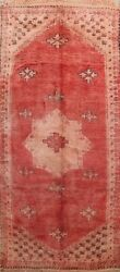 Antique Authentic Moroccan Oriental Vegetable Dye Runner Rug Hand-knotted 6x12