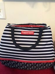 Tupperware Nautical Cooler Set, W/sandwich Keeper, Crystal Wave Container