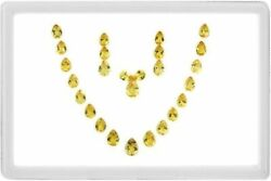 70.17 Ct Necklace Dazzling Yellow 100 Natural Heliodor Beryl Rare Pear Set