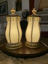 Set Of 2 Vintage Lamps Lumineres