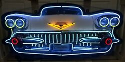 Cadillac Front End Neon Sign Gas And Oil