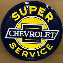 24 Chevrolet Super Service Embossed Metal Sign New / Chevy Ss Signs / Chevy