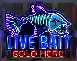 Animated Neon Signs / Live Bait Sold Here Signs / Live Bait Signs / Live Bait