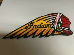 Vintage Indian Motorcycle Embroidered Patch 7 1/2 X 3