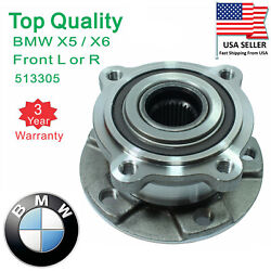 2 X Front Wheel Bearing And Hub Assembly Pair Set For Bmw X5 07-16 X6 Awd 5 Lug