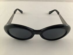 Versace Women's Mod 403d Col 852 Sunglasses In Black Frames With Metal Arms