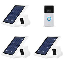 Ring Video Doorbell And Spotlight Cam Battery With Solar Panel Bundle 3 Pack