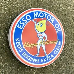 Esso Oil Drop Girl Led Sign Wall Mounted Light Box Garage Vintage Automobilia