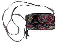 VERA BRADLEY All In One Crossbody For Iphone 6 in PARISIAN PAISLEY Retired $14.99