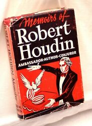 Memoirs Of Robert-houdin Magic Book-1st Ed-biography-french Stage Trick Illusion