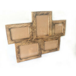 Wood Collage Picture Frames Multi Rustic Photo Frames for Wall and Desk Display