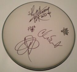 Red Hot Chili Peppers Band Signed 14 Drumhead Autograph Anthony Kiedis All 4
