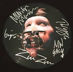 Marilyn Manson Band Signed Autograph Lp Vinyl Rare Picture Disc All 5 Twiggy