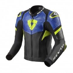 Giacca Pelle Moto Racing Sport Revand039it Hyperspeed Pro Blu Yellow Leather Jacket
