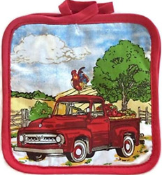 Home Collection Kitchen Pot Holders Farm Truck