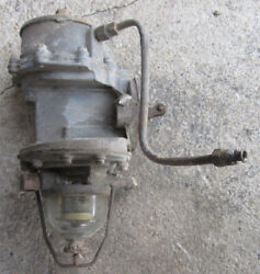 1951 Cadillac Ac Fuel And Vacuum Pump And Glass Bowl Fuel Filter Used 51