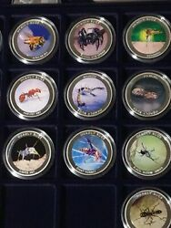 Extremely Rare Zambia 2010 Silver Proof Set Of 10 Coins Worlds Deadly Bugs
