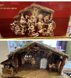 Discontinued Stunning 20 Plus Piece Livinghome Holiday Nativity Set With Crèche