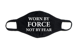 Funny Face Mask 2020 WORN BY FORCE NOT BY FEAR