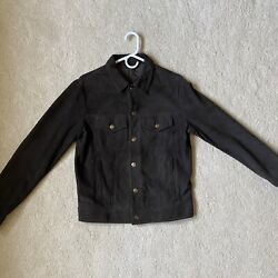 Alanui Slim Fit Western Style Suede Leather Jacket M