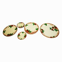 Vintage Franciscan Apple Earthenware Mixed Lot Of Plates Hand-painted Usa