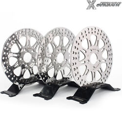 Polished Front Rear Brake Discs Rotors For Harley Dyna Fxdl Fxrs Fxdwg Low Rider