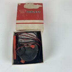 Triplett Model 310 Type9 Hand Sized Vom With Test Leads And Instruction Manual