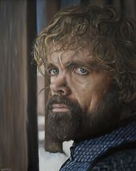 Tyrion Lannister Oil Painting Game Of Thrones Peter Dinklage Hyperrealistic