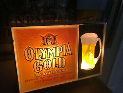 Vintage Olympia Beer Bar Sign Light Up Excellent Condition Rare 1960and039s