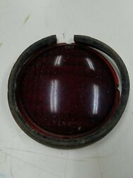 Vintage Yankee Red Glass Lens Truck Brake Turn Signal Ford Chevy