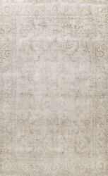 Muted Semi Antique Traditional Evenly Low Pile Area Rug Distressed Handmade 9x12