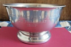 Pewter Trophy Bowl 1957 Vt Field Day Female Champ Woodbury Pewterers Vermont