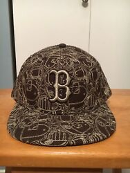 New Era Boston Red Sox Stitched Brown Cap Hat Size 7 3 4